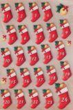 KARIN JITTENMEIER Adventskalender Zahlen 3D Sticker