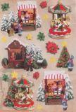KARIN JITTENMEIER Weihnachtsmarkt 3D Sticker