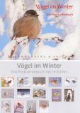 RANNENBERG Vögel im Winter Postkartenbuch