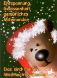 TATZINO Das sind meine Weihnachtswünsche / dunkelgrün Postkarte
