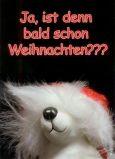 TATZINO Ja, ist denn schon bald Weihnachten??? Postkarte