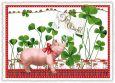 TAUSENDSCHÖN Viel Glück - Schwein mit Klee Postkarte