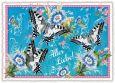 TAUSENDSCHÖN Alles Liebe - Blau/weiße Schmetterlinge Postkarte