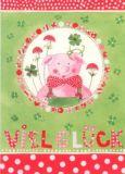 GOLLONG Viel Glück / Schwein - Kerstin Heß Postkarte
