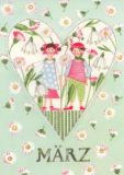 GOLLONG März / Herz - Kerstin Heß Postkarte