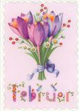 GOLLONG Februar / Blumenstrauß - Nina Chen Postkarte