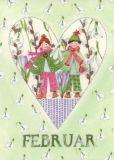 GOLLONG Februar / Herz - Kerstin Heß Postkarte