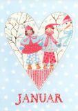 GOLLONG Januar / Herz - Kerstin Heß Postkarte