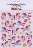 HobbyFun Einhorn Hobby-Design Sticker