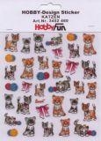 HobbyFun Katzen Hobby-Design Sticker