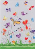 RKN butterflies note book squared A4