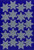 Herma 20 Silberne Sterne Sticker