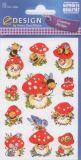 Z-Design mushrooms + bees stickers
