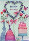 GOLLONG Happy Birthday / Blumenherz - Mila Marquis Postkarte