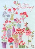GOLLONG Gute Besserung / Blumenvasen - Nina Chen Postkarte
