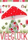 GOLLONG Viel Glück / Pilz - Kerstin Heß Postkarte
