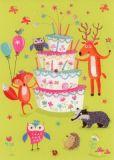 ROGER LA BORDE Critter Cake Glitzer Postkarte