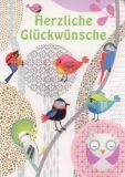 ROGER LA BORDE Crazy Bird Glitzer Postkarte