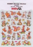 HobbyFun Hasen Hobby-Design Sticker