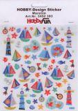 HobbyFun Maritim mit Glitzer Hobby-Design Sticker