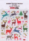 HobbyFun Hirsche mit Glitzer Hobby-Design Sticker