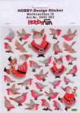 HobbyFun Weihnachtsmänner + Vögel Hobby-Design Sticker