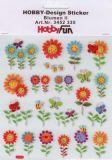 HobbyFun Blumen Hobby-Design Sticker