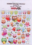 HobbyFun Eulen II Hobby-Design Sticker