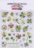 HobbyFun Glücksklee Hobby-Design Sticker
