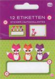 AMAZING IDEAS Little Fox label set
