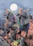 TAURUS-KUNSTKARTEN Frauen und Katzen auf dem Dach - Inge Löök Postkarte