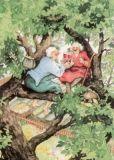 TAURUS-KUNSTKARTEN Frauen auf Baum - Inge Löök Postkarte