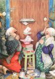 TAURUS-KUNSTKARTEN Frauen vor dem Briefkasten - Inge Löök Postkarte