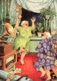 TAURUS-KUNSTKARTEN Frauen tanzen zur Musik - Inge Löök Postkarte