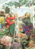 TAURUS-KUNSTKARTEN Frauen im Garten - Inge Löök Postkarte