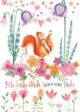 GOLLONG Ich hab Dich soooo lieb Eichhörnchen - Mila Marquis Postkarte