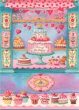 GOLLONG Happy Birthday / Torte & Cupcakes - Nina Chen Postkarte