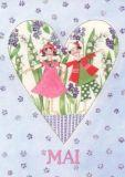 GOLLONG Mai / Herz - Kerstin Heß Postkarte