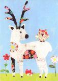 GOLLONG Hirsch & Eule - papersalad Postkarte
