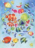 GOLLONG Fische - Nina Chen Postkarte