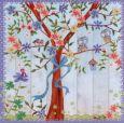 GOLLONG Eulen im Baum - Cartita Design Postkarte