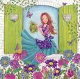 GOLLONG Frau gießt Blumen - Cartita Design Postkarte