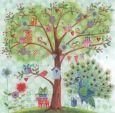 GOLLONG Baum mit Vögeln und Geschenken - Cartita Design Postkarte