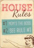 HARTUNG EDITION House Rules WORDS UP Postkarte
