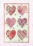 FLORIS Sechs Herzen Postkarte