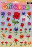 Blumen mit Sprüchen -  Stickerbogen