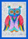 OWL ART SURI Bunte Eule Postkarte