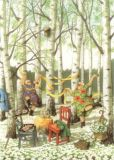 TAURUS-KUNSTKARTEN Frauen im Birkenwald - Inge Löök Postkarte