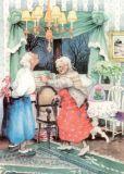 TAURUS-KUNSTKARTEN Frauen mit Zuckerstangen - Inge Löök Postkarte