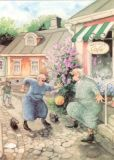 TAURUS-KUNSTKARTEN Frauen vorm Kavila Café - Inge Löök Postkarte
